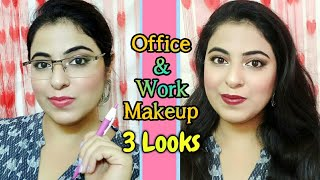 Makeup Tutorial for Office / Work Makeup Look | 3 Looks | Payals Palette
