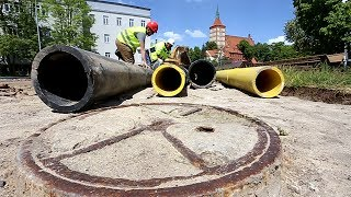 Zabytkowe znalezisko na budowie ul. Pieniężnego w Olsztynie
