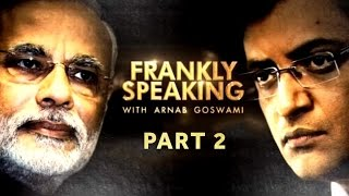 PM Modi on Frankly Speaking with Arnab Goswami | Exclusive Part 2