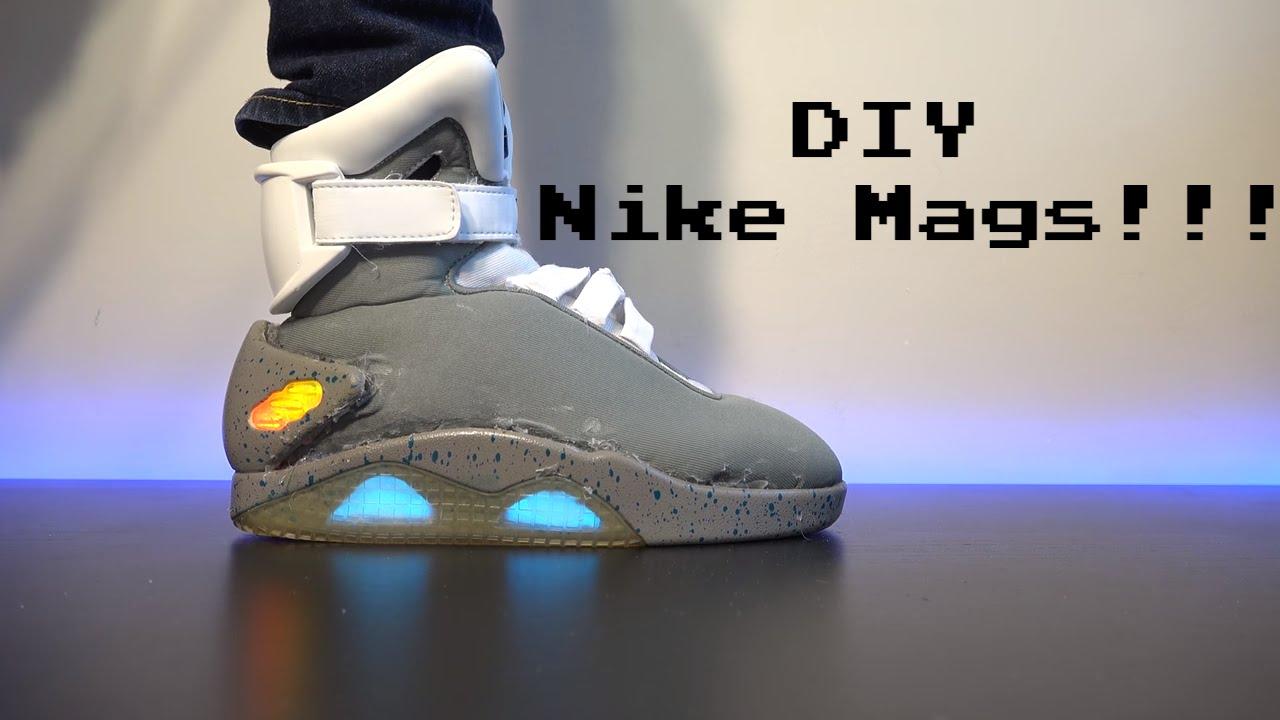 promo code 41047 bd92d DIY Self-Lacing Nike Mags!! - YouTube