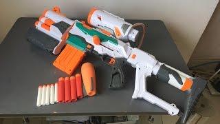 Nerf gun with 3 darts types Modulus Tri-strike