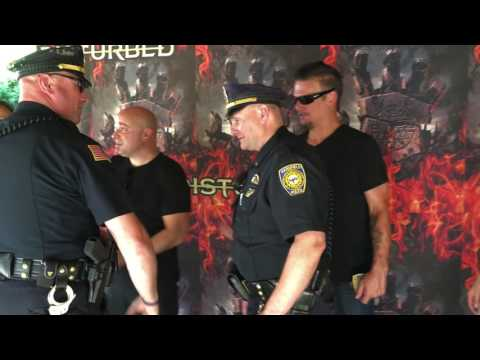 Disturbed on Tour: Meeting Mansfield Police Officers