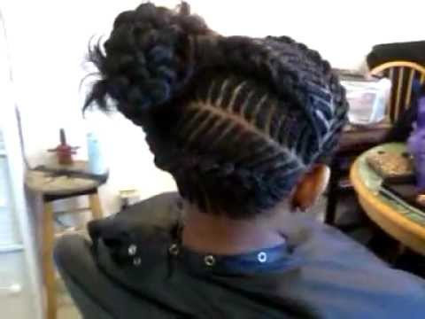 Prom Style Fishbone Cornrow Updo  YouTube - Ghana Braids Updo Hairstyles
