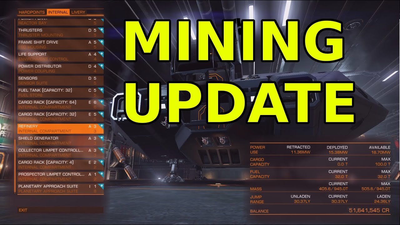 ELITE DANGEROUS - MINING UPDATE