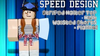 ROBLOX SD - Striped Halter Top + High Waisted Shorts & Flannel