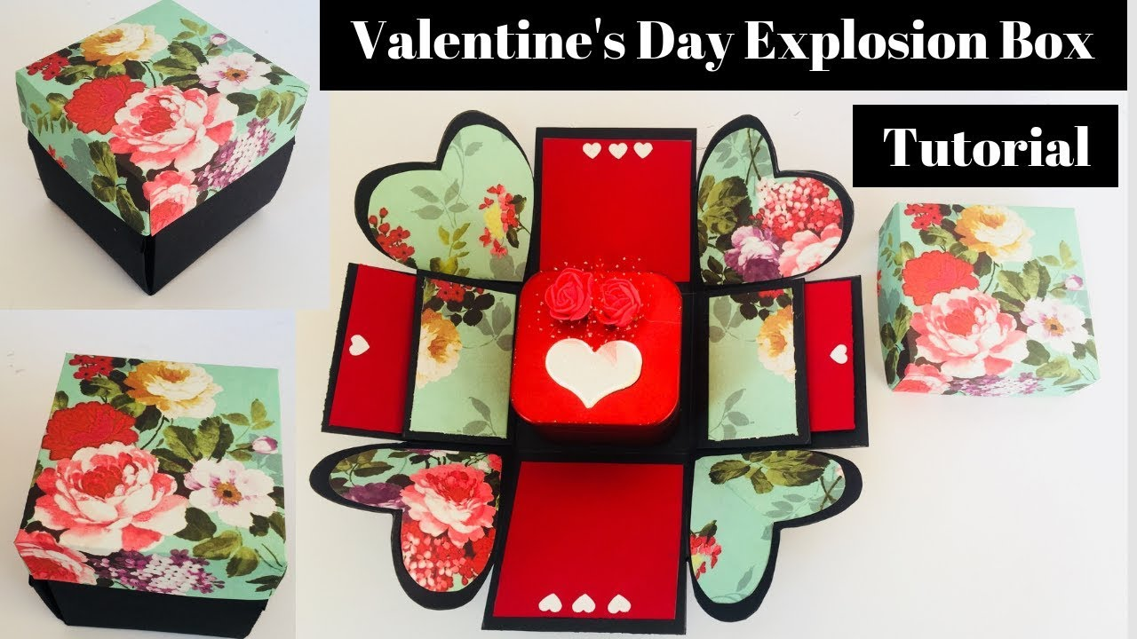 How To Make Valentine S Day Explosion Box Youtube