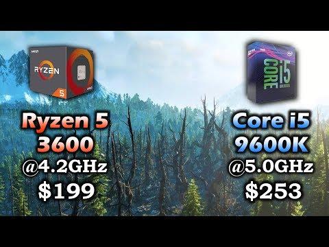 Ryzen 5 3600 vs Core i5 9600K | RTX 2060 SUPER 8GB - YouTube