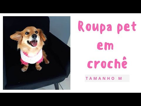 ROUPA PET EM CROCHÊ TAMANHO M | CLARISSE FRONERQ
