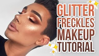 GLITTER FRECKLES MAKEUP TUTORIAL