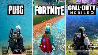 PUBG Mobile VS Fortnite Mobile VS Call Of Duty Mobile   Graphics Comparsion