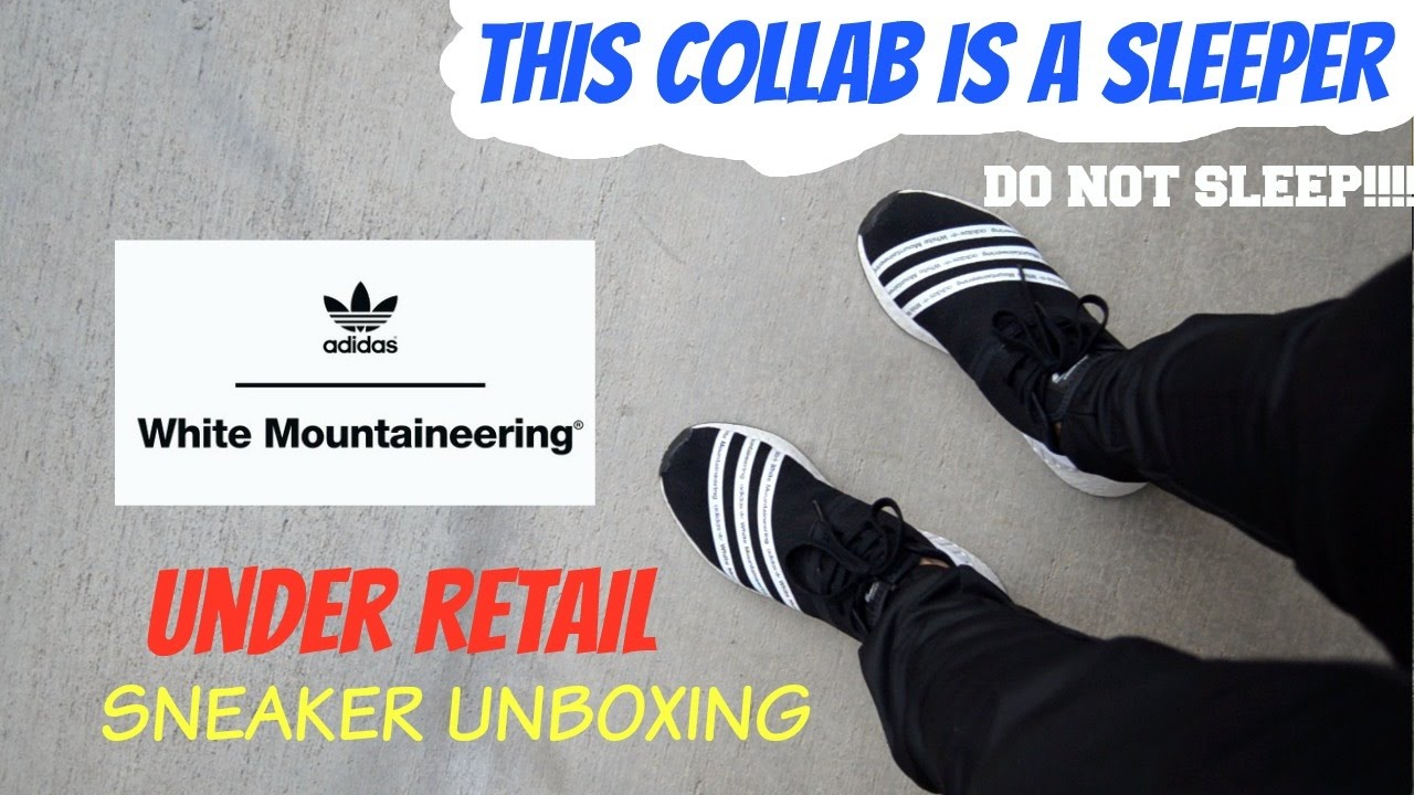 timeless design 8c9b5 31d06 WHITE MOUNTAINEERING WM ADIDAS NMD R2 SNEAKER UNBOXING + REVIEW + ON FEET