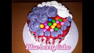 ഓവനില്ലാതെ എളുപ്പത്തിലൊരു  ബ്ലൂബെറി കേക്ക്||Blue berry cake without oven||Cake recipes malayalam