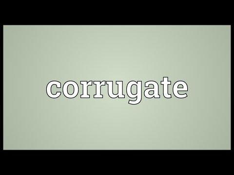 Header of corrugate