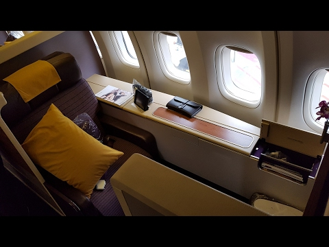 Thai Airways B747 First Class Suite ✈ Melbourne to Bangkok TG466 (Business Class service)