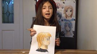 How to draw Manga - Maya shows how to draw a Manga profile view