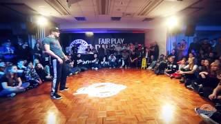 الراقص صلاح المغربي الجزائري  يتغلب على لاندو وكوينسي   في مسابقة الرقص Fair Play Dance Camp 2015