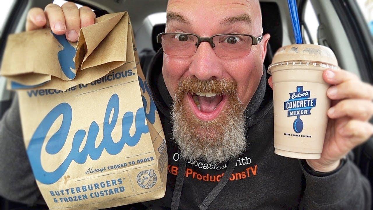 Culver's Deluxe Butter Burger ???? Chocolate Shake & Frozen Custard ????