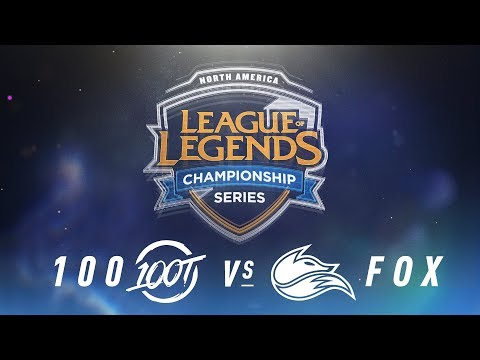 100 vs. FOX - Week 9 Day 2 | NA LCS Spring Split | 100 Thieves vs. Echo Fox(2018)