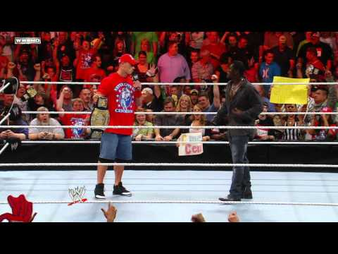 Raw: R-Truth picks on a WWE fan in John Cena gear