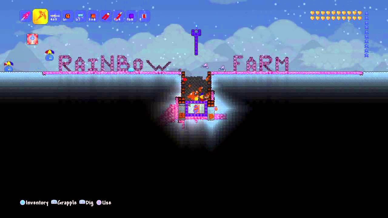 Terraria tutorial afk rainbow slime farm youtube ccuart Image collections