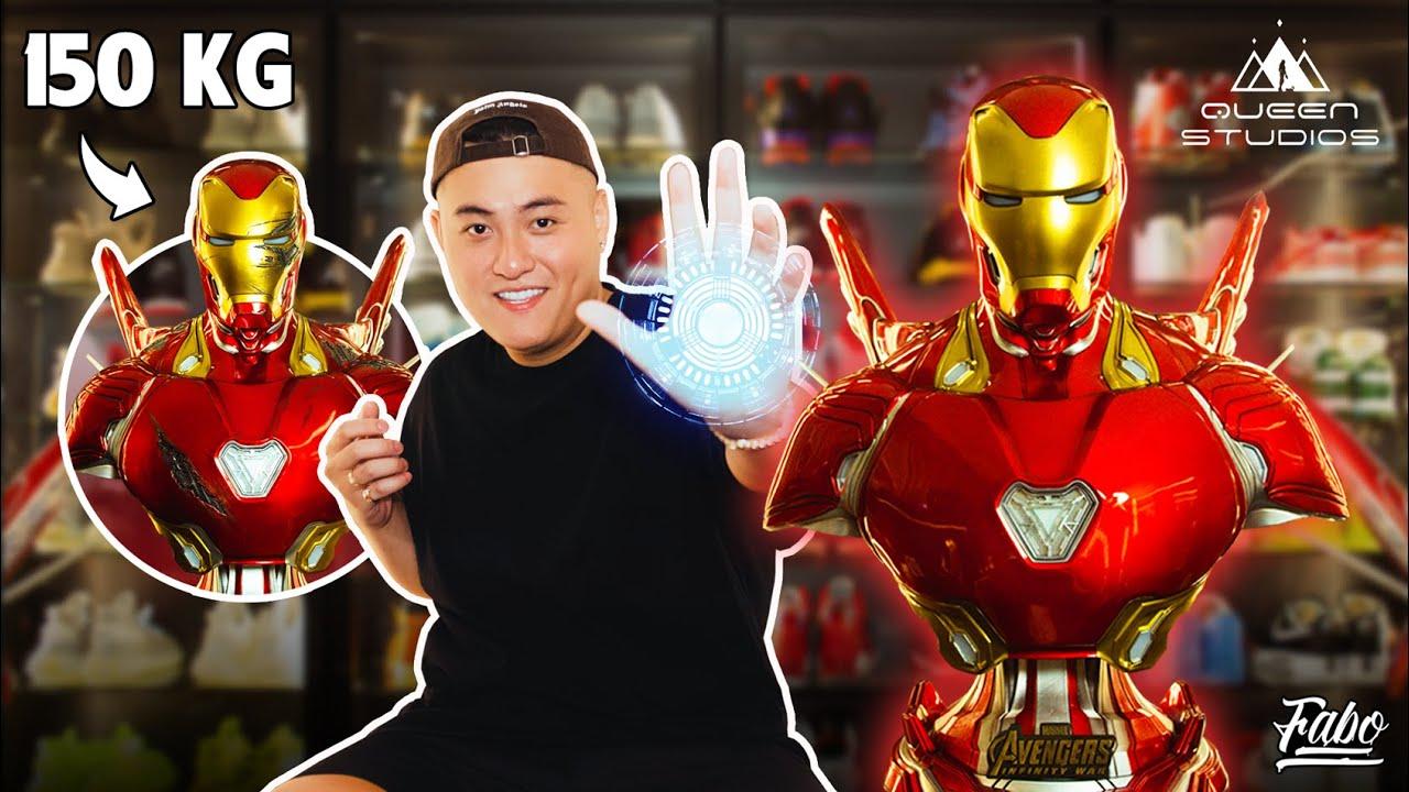 Fabo Đập Hộp Mô Hình Iron Man Size Người Thật Nặng 150 Kg | Queen Studios