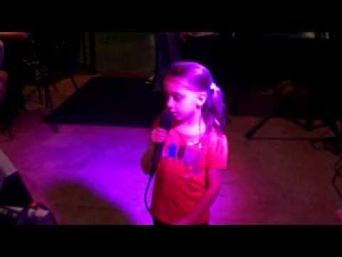 Cayden  at Buffalo Wild Wings Karaoke