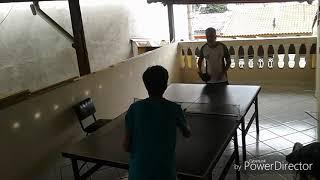 Jogando ping pong com meu tio parte 2