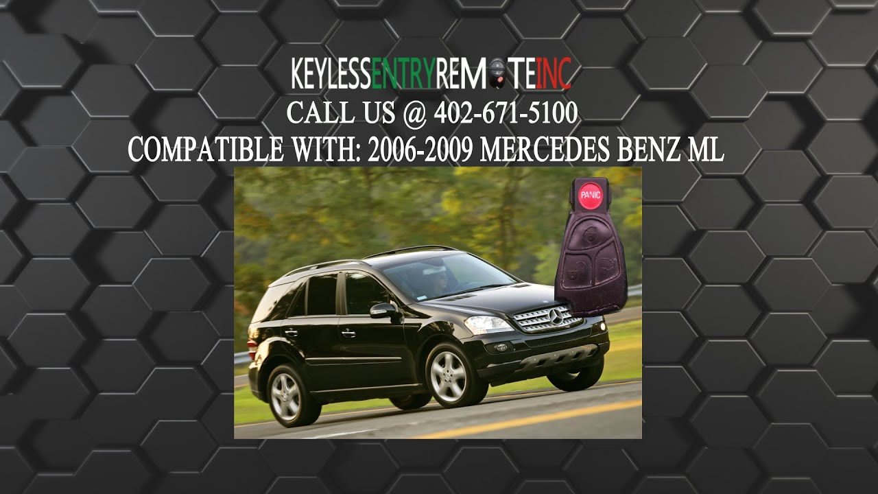 How To Replace Mercedes Benz ML Key Fob Battery 2002 ...
