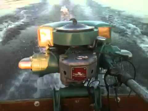 Don Johnson Motors >> 1946 Johnson PO-15 Antique outboard - YouTube