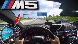 BMW M5 F90 pushing on German Autobahn ✔