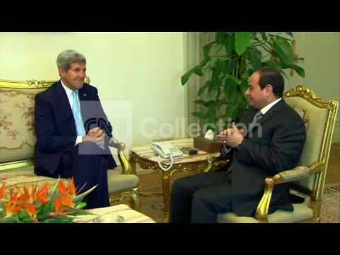 SEC KERRY MEETS WITH EGYPTIAN PRESIDENT IN CAIRO