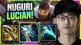 DON'T MAKE NUGURI ANGRY WHEN HE PLAYS LUCIAN! - FPX Nuguri Plays Lucian TOP vs Volibear! | KR SoloQ