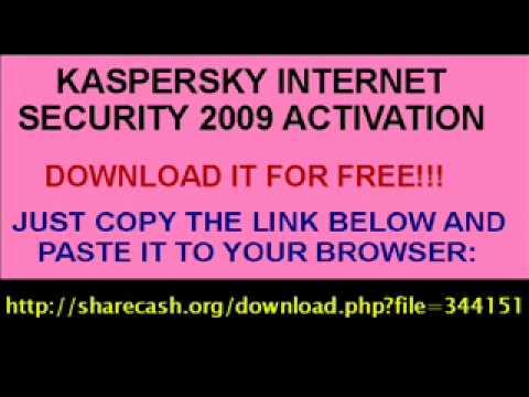kaspersky internet security 2009 activation key file download
