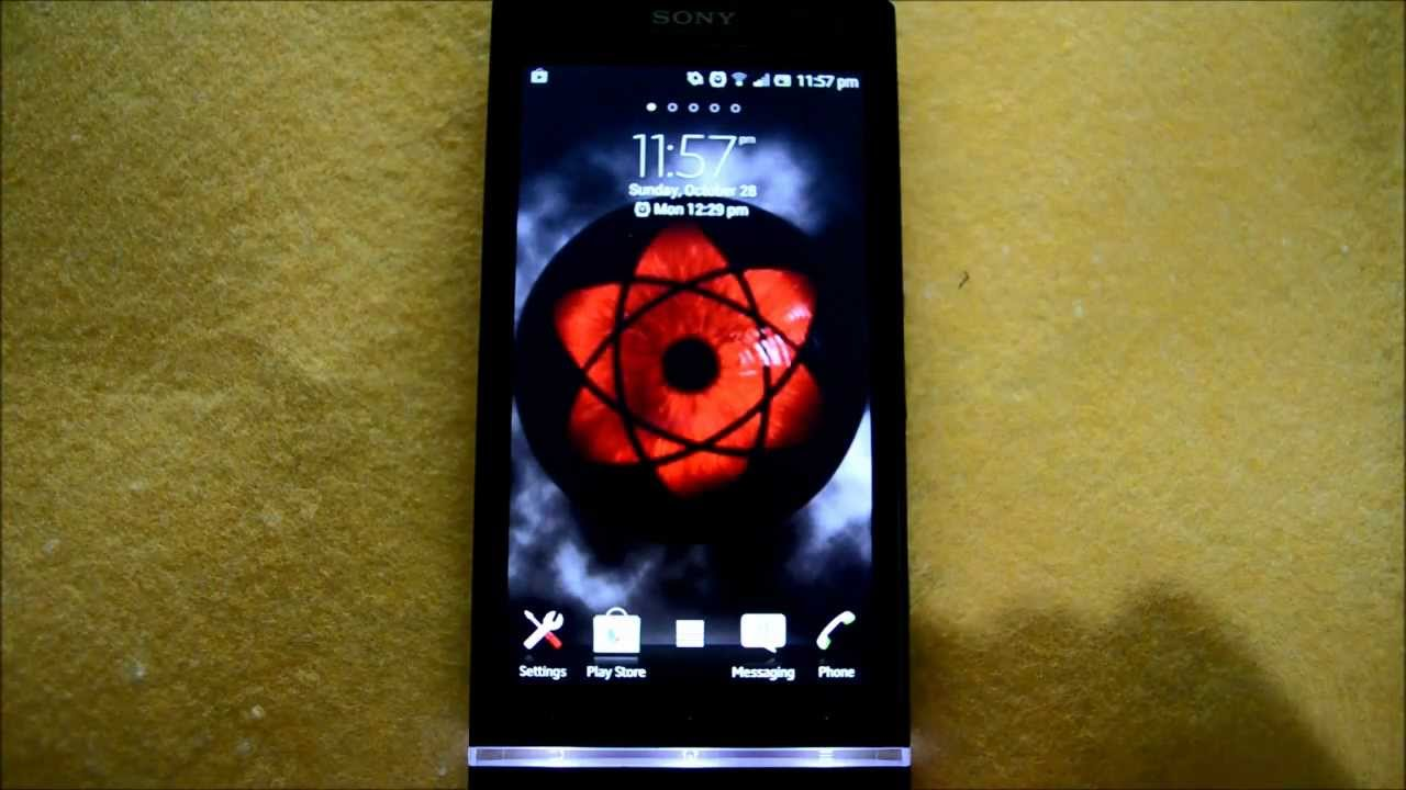 Android Sharingan Live Wallpaper Instruction Youtube