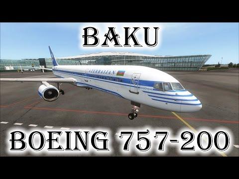 FSX | Azerbaijan Airlines 757 Landing at Baku's Heydar Aliyev Int'l Airport (UBBB) (Multiple Views)