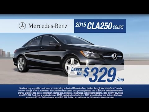 Mercedes benz lease offers on the cla 250 and c 300 4matic for Mercedes benz lease incentives