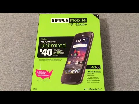 Zte Majesty Specs >> ZTE Majesty Pro (Simple Mobile) Unboxing & First Look ...