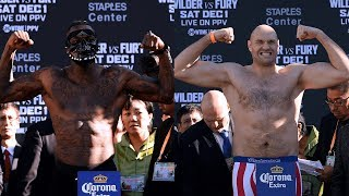 Full Wilder v Fury official weigh-ins | Tyson Fury weighs 54lbs more than Deontay Wilder
