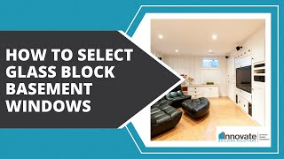 How to Select Glass Block Basement Windows, Egress & Hurricane Window Man Caves Rec Room Columbus