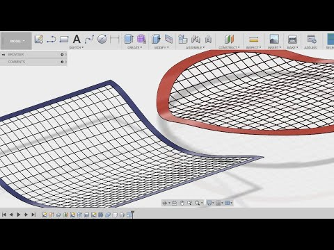 How To Make A Wire Net Wire Grill Wire Mesh In Fusion 360 Fusion 360 Tutorial Youtube