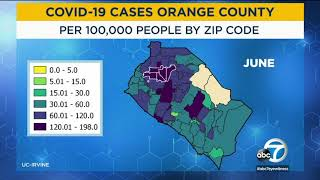 Orange county now has the second-most cases of coronavirus in state, and experts are looking at how it spread initially from wealthier coastal communitie...