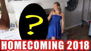 Homecoming 2018 GRWM Dress prank from April