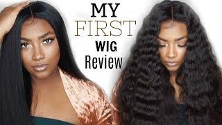 MyFirstWigReview| Full Wig Install:Styling, BabyHairs, MeltDown, GlueMethod