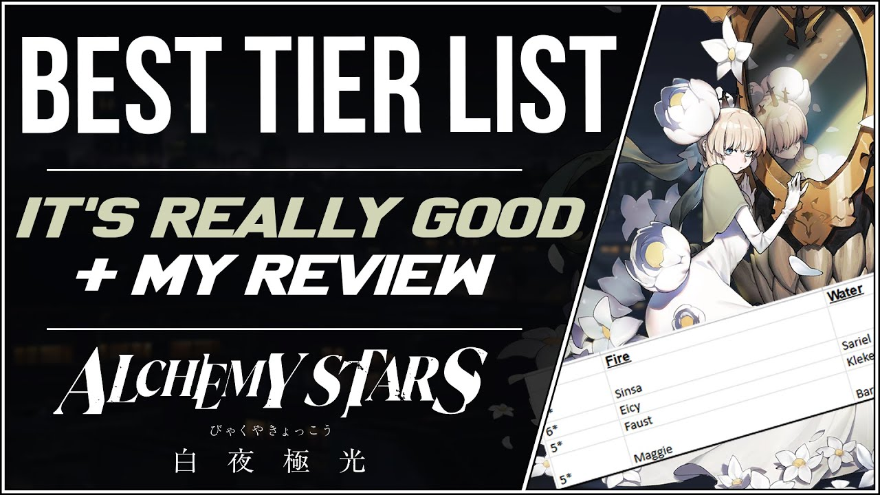 [Alchemy Stars] Probably The Best Tier List That I've Ever Seen For Any Game (+ My Review)