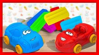 Разноцветный ПЛАСТИЛИН - Лепим из пластилина ВСПЫШ и Чудо машинки