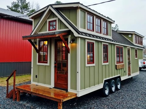 Luxurious Farmhouse Style Tiny House Is Beautiful Youtube