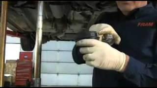 FRAM Cartridge Oil Filter change on Mazda 2.3(How to change a FRAM Cartridge Oil Filter on a Mazda 2.3., 2011-01-18T21:31:13.000Z)