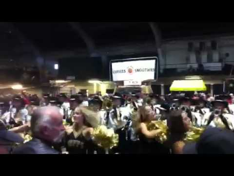 University Of Colorado Marching Band plays fight song medley