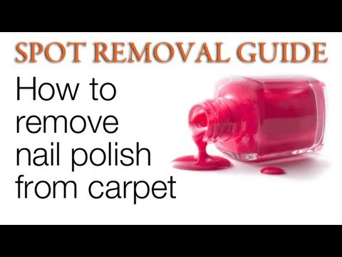 how to get nail polish out of carpet spot removal guide youtube. Black Bedroom Furniture Sets. Home Design Ideas