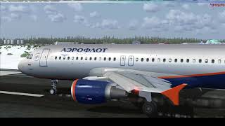 airbus A320 обещанный полет Салехард-Омск. Microsoft Flight Simulator X